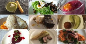 different dishes proposed by Vincent via eatwith